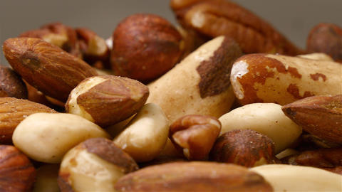 Mixed nuts close up while rotating Footage