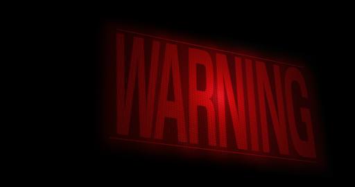 Pixel warning screen blinking red Animation