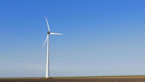 Single wind turbine near field Footage