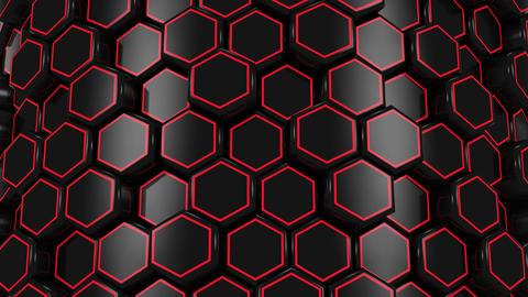Animated Black Honeycombs Animation