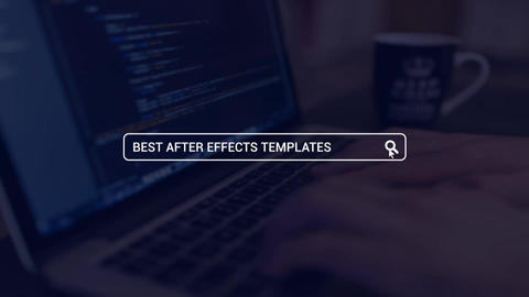 Web Search Logo Opener After Effects Template