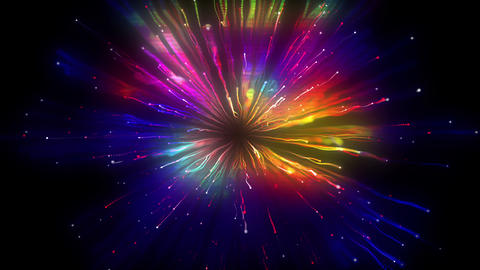 Particle Collision Bright Colors Animation