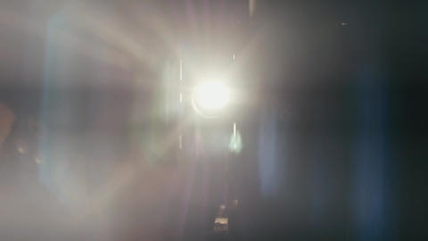 Film projector turned on and off 07 Stock Video Footage
