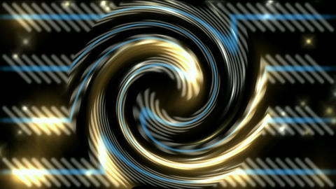 swirl fire light around metal turbine,energy... Stock Video Footage
