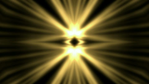 swirl golden flower metal pattern and rays light Animation