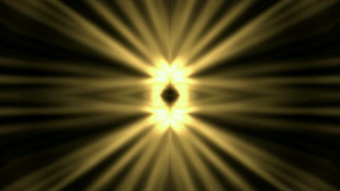 swirl golden flower metal pattern and rays light Stock Video Footage
