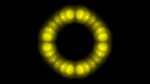 golden balls shaped circle halo pattern,disco neon light Stock Video Footage
