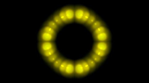 golden balls shaped circle halo pattern,disco neon light Stock Video Footage