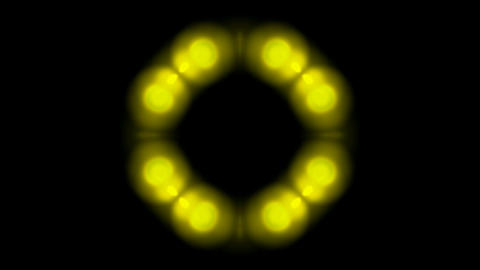 golden balls shaped circle halo pattern,disco neon light Animation