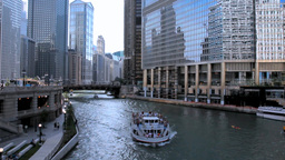 Chicago River Cruise 2 stock footage