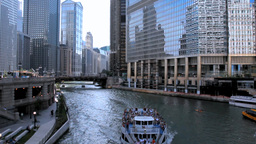Chicago River Cruise 2 Stock Video Footage