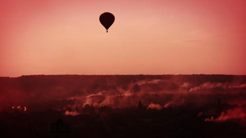 Morning balloon flight Stock Video Footage