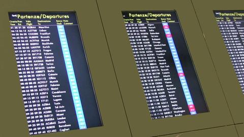 Departure Board Stock Video Footage