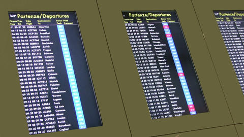 Departure Board Stock Video Footage