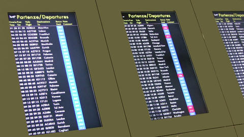 Departure Board Footage