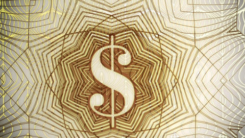 World Paper Currency Background Zoom Out Stock Video Footage