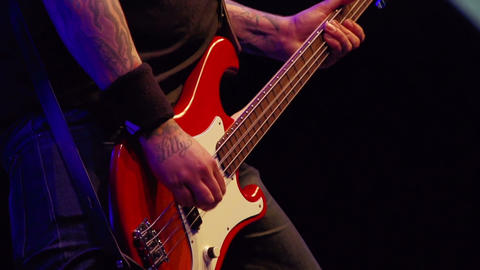 Bass player on stage Footage