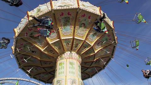 Chain swing ride on funfair Footage