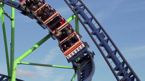 Funfair rollercoaster Footage