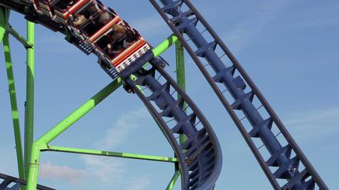 Funfair rollercoaster Stock Video Footage