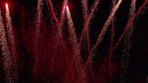 Firework In Slow Motion stock footage