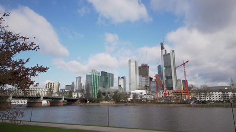 Time Lapse of Frankfurt - Financial district Stock Video Footage