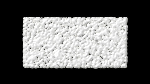 Wiggly worms,white bubbles and cells explosion debris Stock Video Footage