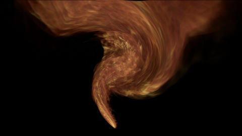 swirl red fire tornado,2012,end of the... Stock Video Footage