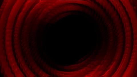 red deep multi layer round tunnel,intestinal,tech... Stock Video Footage