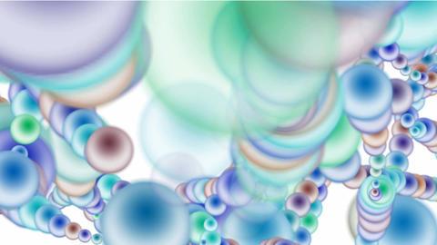 color balls chain,bio chain,Mitochondria,DNA Stock Video Footage
