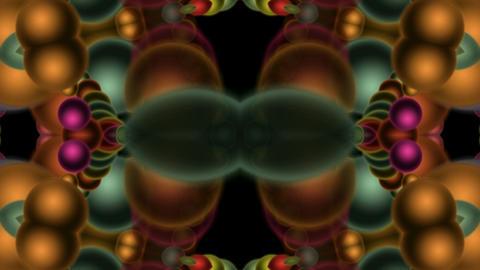 bubble shaped flower fancy pattern,disco neon concert... Stock Video Footage