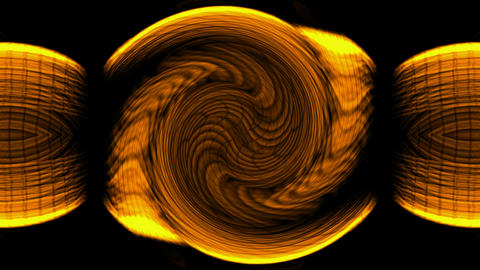swirl golden wire and fiber optic cable show fire rays light Stock Video Footage