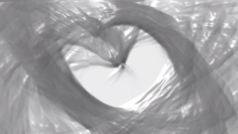 swirl plastic curve liquid stream shaped hole Stock Video Footage