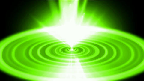 flare green heaven light and tech round energy field in... Stock Video Footage