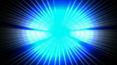 dazzling blue ray light pulse and fiber optic in... Stock Video Footage