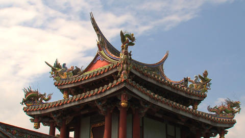 Baoan temple timelapse Stock Video Footage