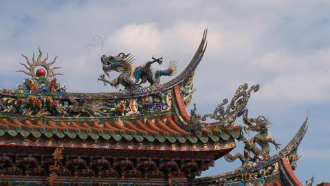 Longshan Temple timelapse Stock Video Footage