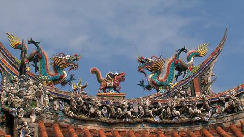 Roof Longshan Temple timelapse Footage