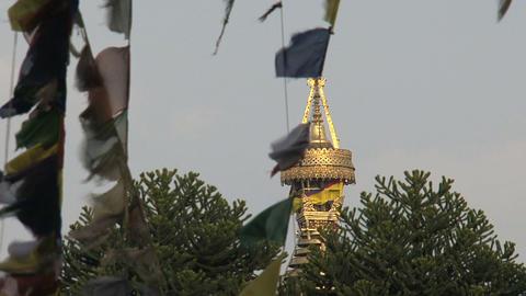Top of the swayambhunath stupa,monkey temple betwe Footage