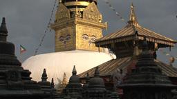 Nepal 224swayambhunath stupa/monkey temple Stock Video Footage