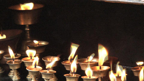close up from Candles Stock Video Footage