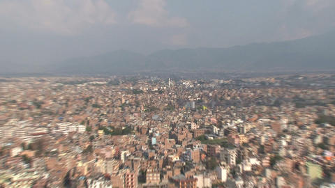 Atop a hill in the Kathmandu Valley Zoom out Footage