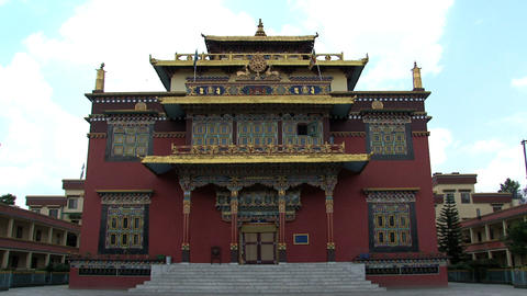 Shechen Temple in Kathmandu Stock Video Footage