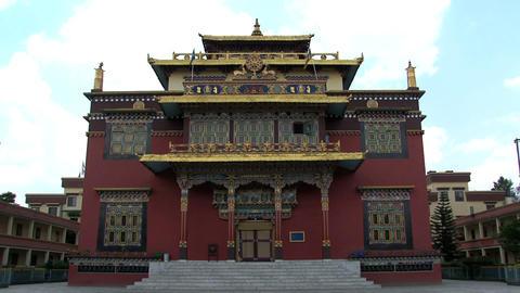 Shechen Temple in Kathmandu Stock Video Footage