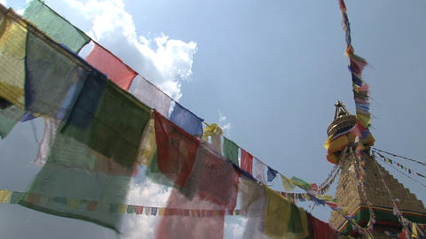 Prayer flags in the wind Footage