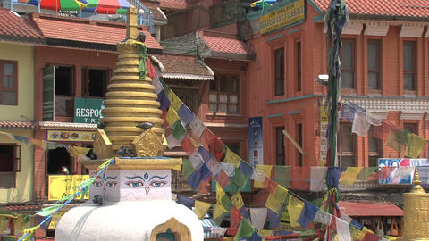 Small stupa next to the Boudha stupa Footage