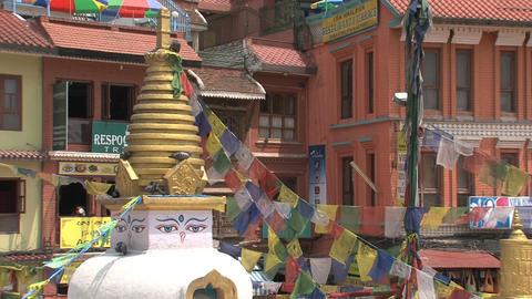 Small stupa next to the Boudha stupa Footage