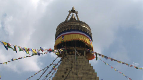 Tilt to the top of the Boudha stupa Footage