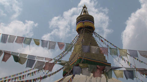 Boudha stupa in Kathmandu Stock Video Footage