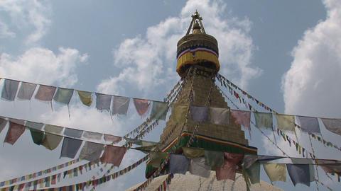 Boudha stupa in Kathmandu Stock Video Footage